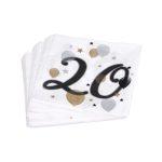 20. születésnapi lufis szalvéta