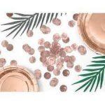 Metál rose gold konfetti