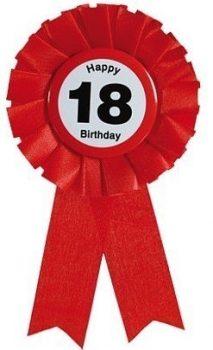 18. születésnapi szalagos kitűző