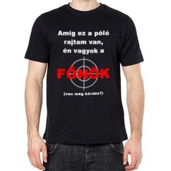 Főnök póló XL-es