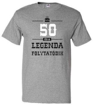 50-es Legenda folytatódik póló XL-es