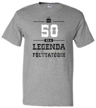 50-es Legenda folytatódik póló XXL-es