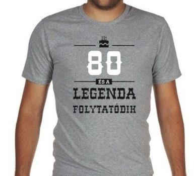 80-as Legenda folytatódik póló L-es