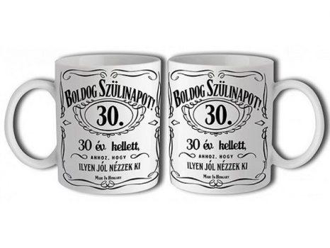 30-as Jack Daniels bögre