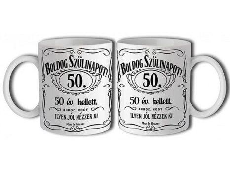 50-es Jack Daniels bögre
