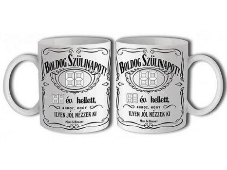 Írható Jack Daniels születésnapi bögre