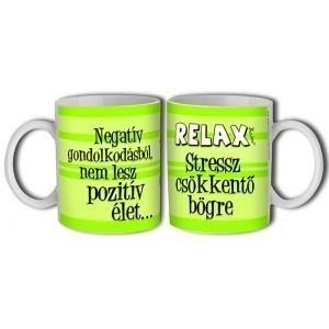Relax stresszcsökkentő bögre