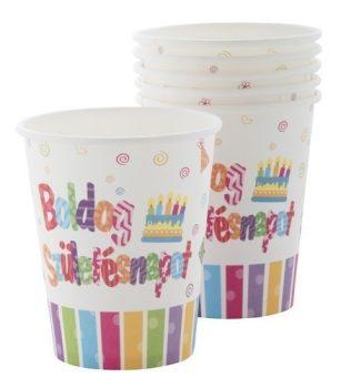 Boldog születésnapot papírpohár