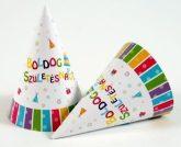 Boldog születésnapot színes papírcsákó