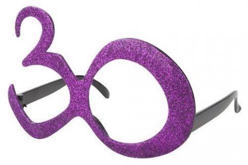 30-as csillámos szemüveg