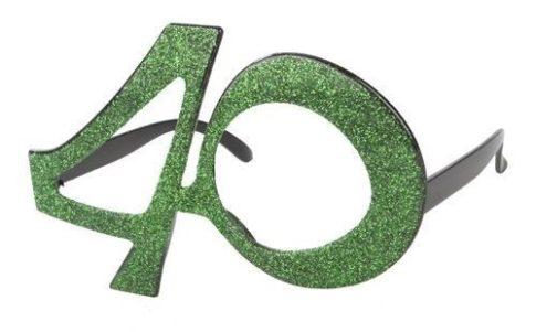 40-es csillámos szemüveg
