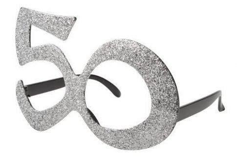 50-es csillámos szemüveg