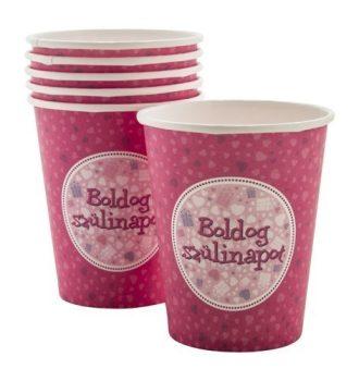 Boldog szülinapot pink papírpohár