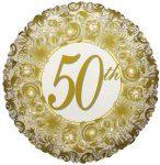 50. házassági évfordulós fólia lufi 46 cm