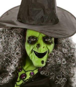 Zöld boszorka maszk