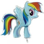 My Little Pony - Rainbow Dash fólia lufi 81 cm