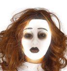 Sötétben világító női maszk