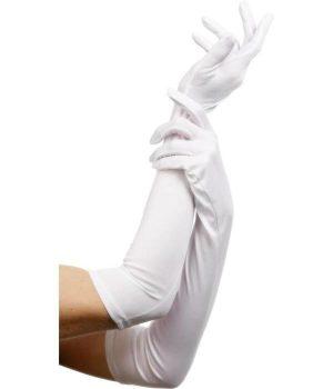 Hosszú fehér kesztyű