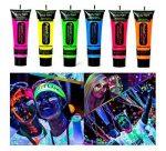 Sötétben világító arc - és testfesték neon színekben
