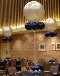 Luficsokor 40 cm-es héliumos lufi 4 db kis lufival és 2 emeletes lufinehezékkel